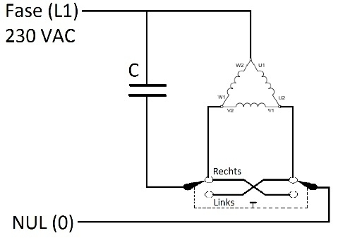 Een 3 Fase Motor Aansluiten Op 230 V 1 Fase